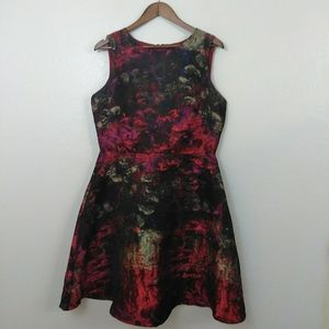 Leslie Fay Colorful Swirl Dress